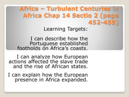Africa – Turbulent Centuries in Africa
