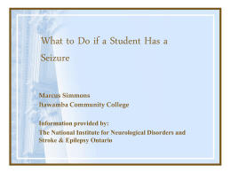 What to Do if a Student Has a Seizure