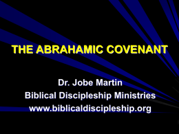 THE ABRAHAMIC COVENANT - Biblical Discipleship