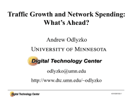 The Meaning of Broadband - University of Minnesota