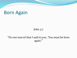 Born Again - Navarre Church of Christ