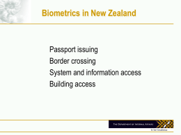 New Zealand Passports update from April 2002