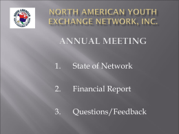 North American Youth Exchange Network, Inc. Annual Meeting