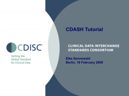 CDASH Tutorial - Digital Infuzion, Inc.