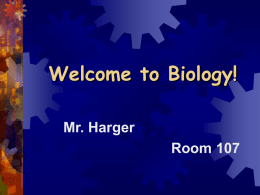 Welcome to Biology! - Oakridge Public Schools