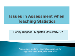 Issues of Assessment when Teaching through Problem
