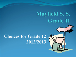 Key Messages for Grade 8 students and their parents