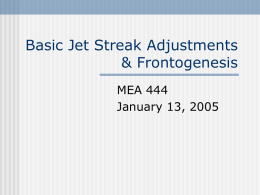 Basic Jet Streak Adjusments