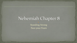 Nehemiah – Chapter 1 Overview