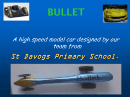 Bullet drove by speed racers