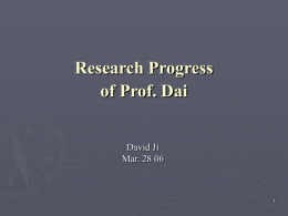 Research Progress - University of Guelph