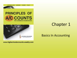 ACCOUNTING CYCLE - Principles of Accounts for Caribbean