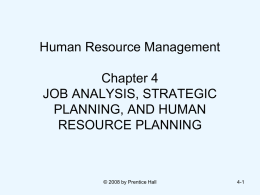 STRATEGIC HUMAN RESOURCE MANAGEMENT: AN OVERVIEW