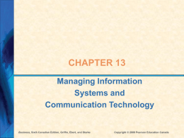 Ch 13 - Info Systems and Communication