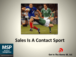 MSP Sales is a Contact Sport Program 072513x