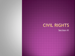 Civil Rights - Dwight D Eisenhower Junior High School