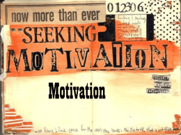 Motivation and Emotion - Appoquinimink High School