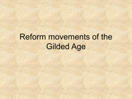 Reform movements of the Gilded Age