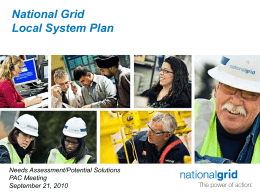 National Grid Local Area Load Serving Projects