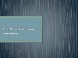 The Deserted Crone