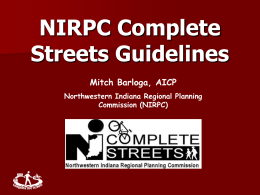 Update on the NCHRP Pedestrian Facilities Design Guidelines