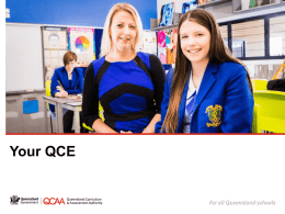 Your Queensland Certificate of Education (QCE)