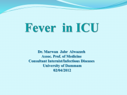 Fever in ICU