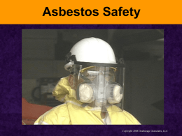 Asbestos Safety - Welcome to the website for the SC State