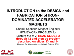 Intro to Iron Dominated Magnets