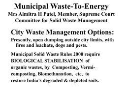MUNICIPAL WASTE- TO-ENERGY (MWTE) FAILURES AND …