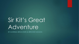 Sir Kit's Great Adventure
