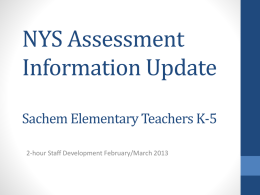 Information for All Elementary Teachers
