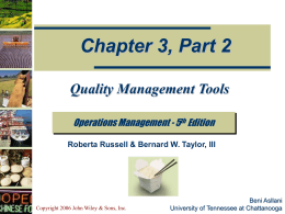 Quality Management - Winthrop University College of
