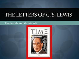 The Letters of C. S. Lewis