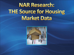 NAR Research: THE Source for Housing Market Data