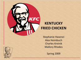 Kentucky Fried Chicken - Reed College of Media