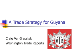 A Trade Strategy for Guyana - Organization of American States