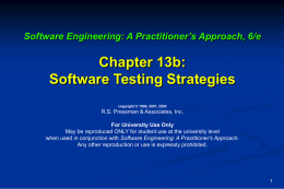 Transparency Masters for Software Engineering: A
