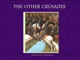 The Other Crusades - Berkeley Heights Public Schools