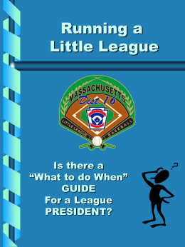 Running a Little League