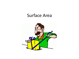 Surface Area - Olean City School District / Home Page