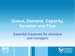 queue, demand, capacity, variation and flow presentation