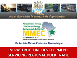Speech Title - Maputo Corridor Logistics Initiative