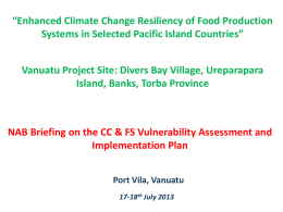 Food Security in the Pacific
