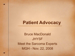 Patient Advocacy - Leiomyosarcoma Direct Research Foundation