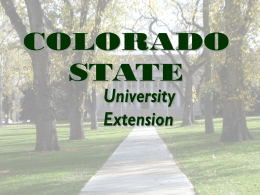 Mission Statement - Colorado State University