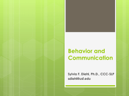 Behavior and Communication - CARD