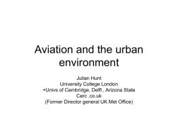 9 Feb/Julian Hunt-Aviation and the urban environment