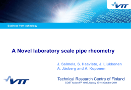 Laboratory-Scale Pipe Rheometry: A Study of