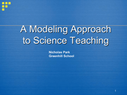Models and Modeling in the High School Physics Classroom